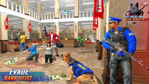 US Police Dog Bank Robbery Crime Shooting Game  screenshots 1