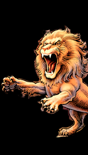 Scary Lion Color by Number Draw Book Pixel Art