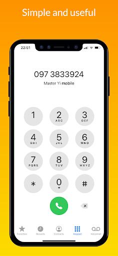iCall – iOS Dialer, iPhone Call screen 1