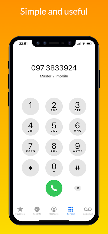 iCall – iOS Dialer, iPhone Call poster 1