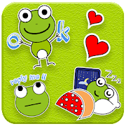 Cute Green Frog Emoji Stickers