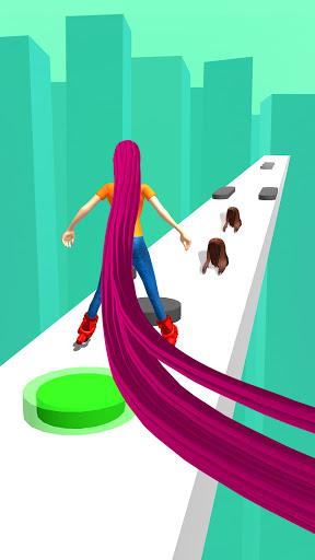 Hair runner challenge game 3d body rush race hairs 2 screenshots 1