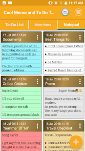 Cool Memo & To Do Tasks Colourful Reminder Notes