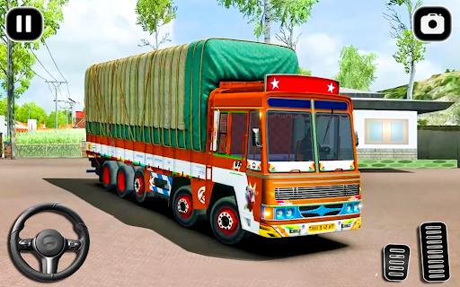 Indian Cargo Truck Transporter City Driver 3D Game  screenshots 11