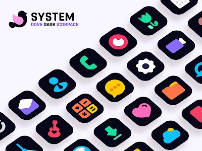 Dove Dark : Icon Pack 1.8 (Patched)