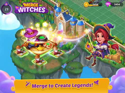 Merge Witches - merge&match to discover calm life  screenshots 11