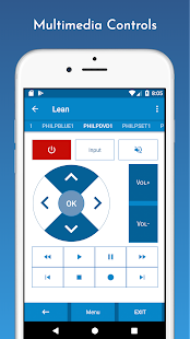 Universal Remote Control - Lean Remote Screenshot