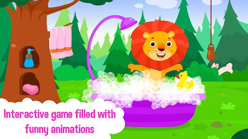 Baby Animal Bathing Game for Kids & Preschoolers apkdebit screenshots 3
