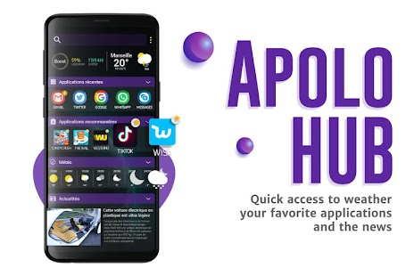 Apolo Launcher: Boost, theme, wallpaper, hide apps Screenshot