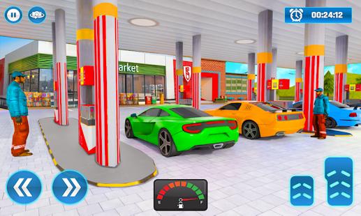 Gas Station Car Driving Simulator Car Parking Game  Screenshots 3