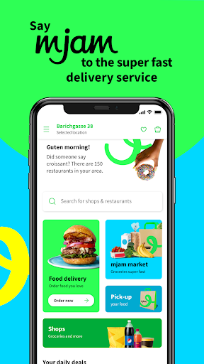 mjam – Delivery Service for food, groceries & more screenshots 1