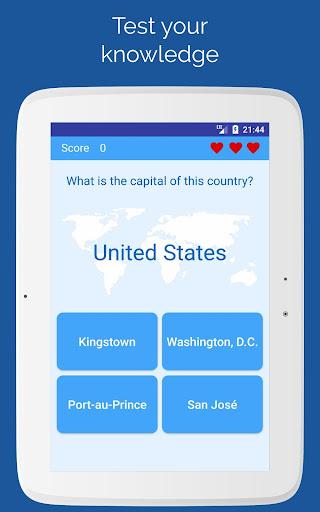 Capitals of the countries - Quiz  screenshots 9