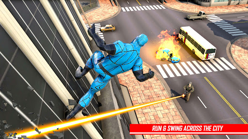 Rope Hero Man: Spider Miami City Gangster apkpoly screenshots 6