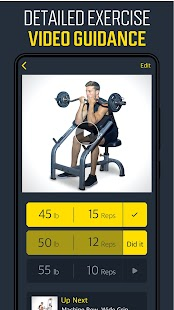 Gym Workout Planner - Weightlifting plans Screenshot