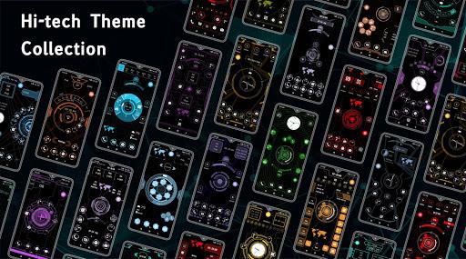 Compact Hitech Launcher - sci-fi, win style Themes 4.0 Screenshots 4