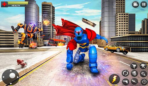 Flying Hero Robot Transform Car: Robot Games Apkfinish screenshots 12