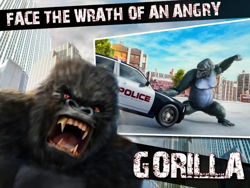 Captura de Pantalla 13 de Angry Monster Gorilla - Godzilla King Kong Games para android