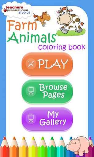 Farm Animals Coloring Book 9 screenshots 1
