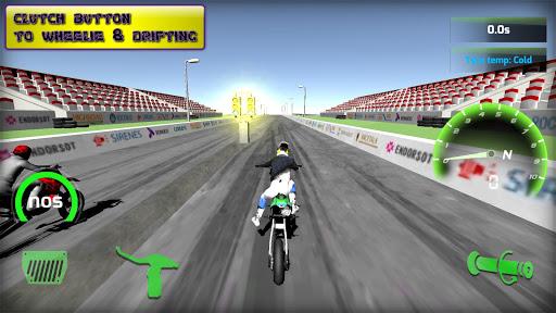 Motorbike  Online Drag Racing - Wheelie racing 3D screenshots 4