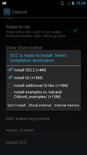 GCC plugin for C4droid 9.1.0 Screenshots 1