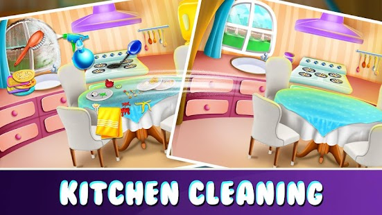 Make House Clean & tidy - Girls Home Cleaning Game Screenshot