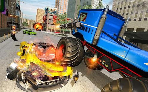 US Police Monster Truck Robot