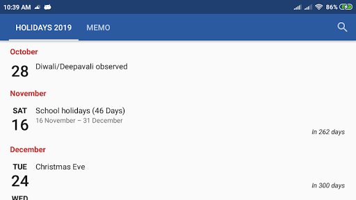 Monthly Calendar & Holiday 1.2.0 Screenshots 5