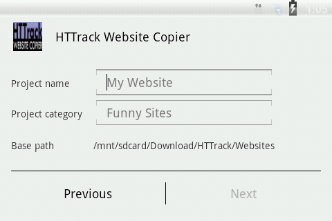 HTTrack Website Copier 3.49.02.63 Screenshots 2