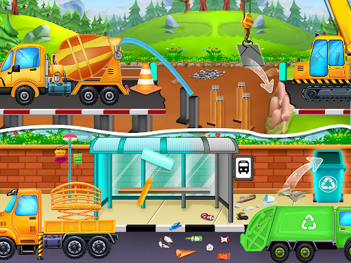 Home Builder - Truck cleaning & washing game  screenshots 9