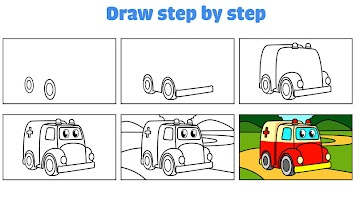 Car coloring : kids doodle drawing games for kids