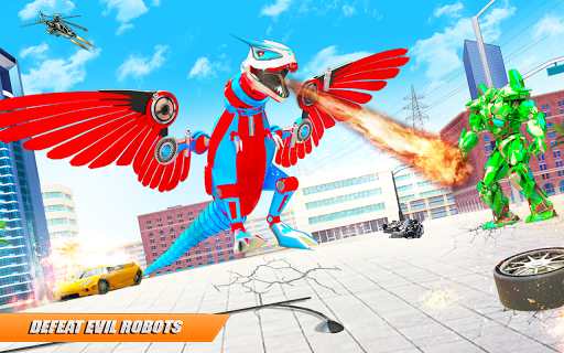 Flying Dino Transform Robot: Dinosaur Robot Games screenshots 5