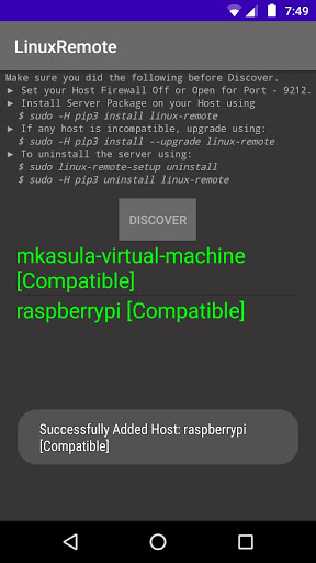 Foto do Linux Remote