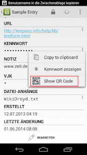QR Plug-in for KP2A