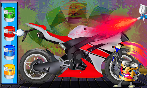 Racing Bike Repair - Bike Wash and Design Salon 1.2 screenshots 4