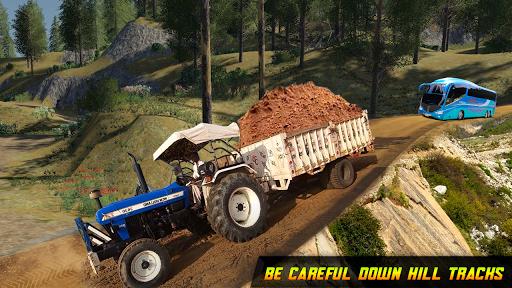 Tractor Trolley Drive Farming Simulator Game 2021  screenshots 4