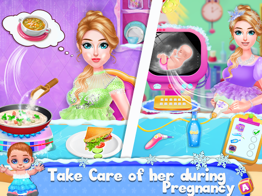 Ice Princess Pregnant Mom and Baby Care Games 0.16 Screenshots 2
