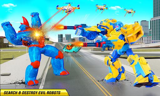 Rhino Robot Monster Truck Transform Robot Games  screenshots 3