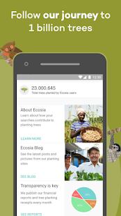 Ecosia - Trees & Privacy Screenshot