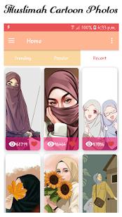 Hijab Muslimah Cartoon Wallpapers HD 1.1.10 screenshots 1