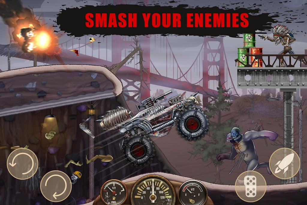 Zombie Hill Racing - Earn To Climb: Zombie Games poster 2
