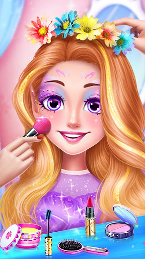 ud83dudc78Rainbow Princess & Unicorn Makeup - Fashion Trip 1.8.5038 screenshots 12