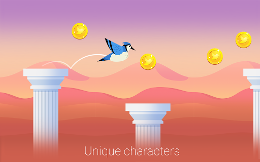 Bouncy Bird: Casual & Relaxing Flappy Style Game 1.0.7 screenshots 6
