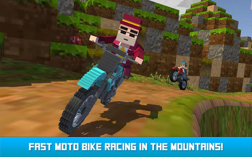 Blocky Moto Bike SIM: Winter Breeze android2mod screenshots 11