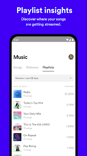 Spotify for Artists Screenshot