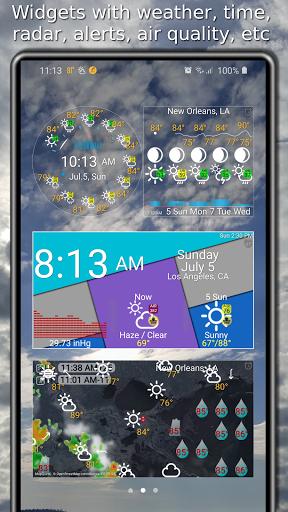 Weather app & widget with barometer: eWeather HDF  Screenshots 3