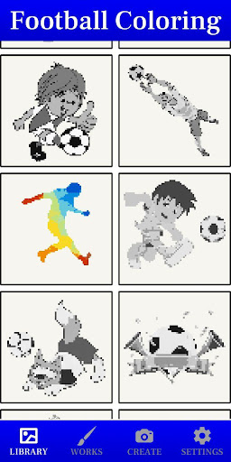 Color by number football coloring book game screenshots 1