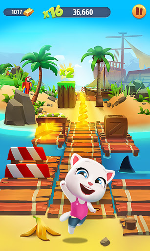 Code Triche Talking Tom: Course à l'or (Astuce) APK MOD screenshots 3