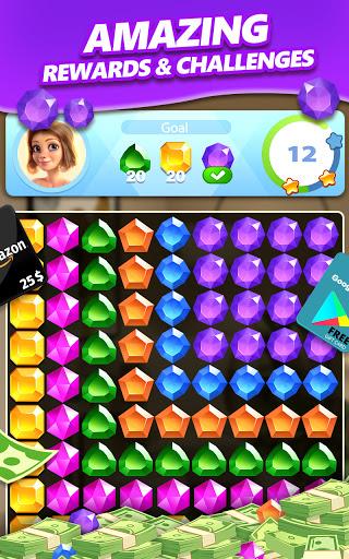 Jewel Blast & Diamond Crush Puzzle Game to BIG WIN android2mod screenshots 5