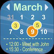 Calendar Widget Month with Agenda