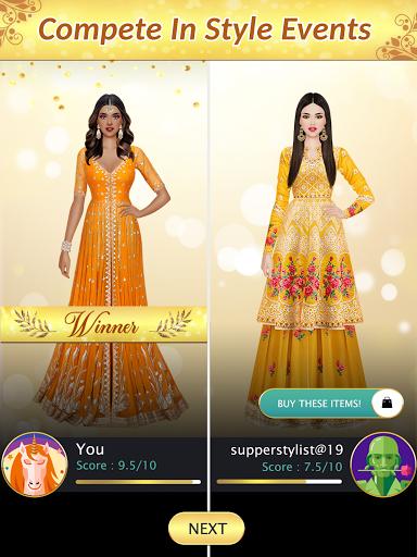 Indian Fashion Dressup Stylist  screenshots 12